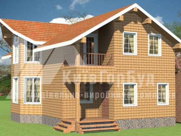 Wooden house project A-208 - image 2