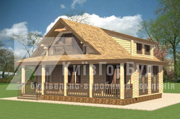 Wooden house project A-238 - image 1