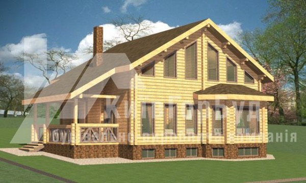Wooden house project A-244 - image 1