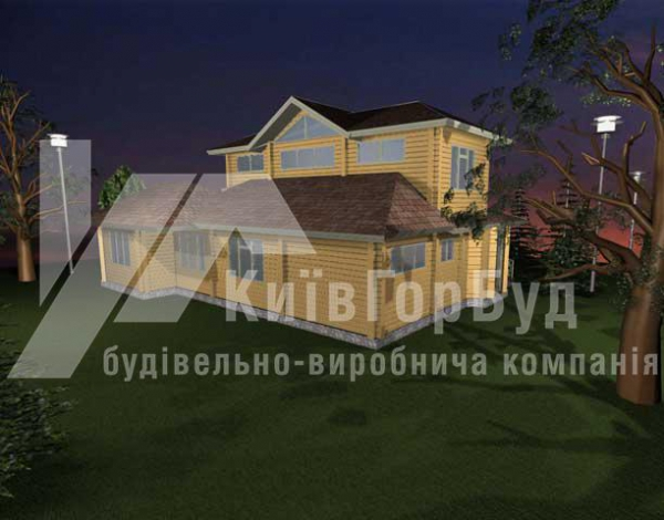 Wooden house project J-218 - image 1