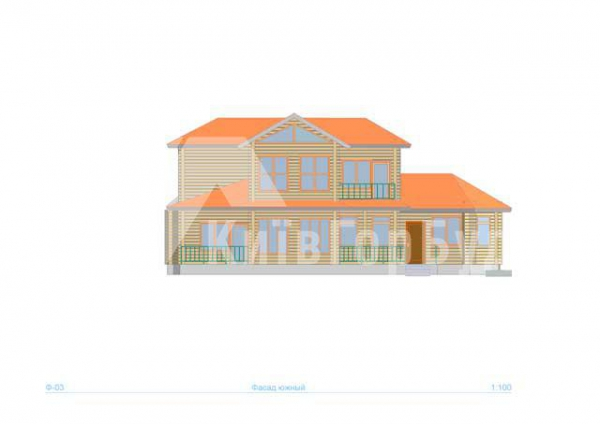 Wooden house project J-218 - image 4