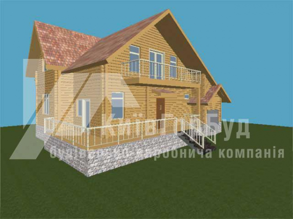 Wooden house project J-220 - image 1