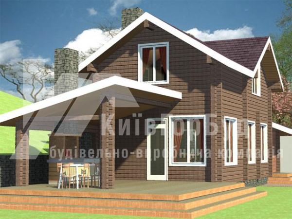 Wooden house project A-134 - image 1