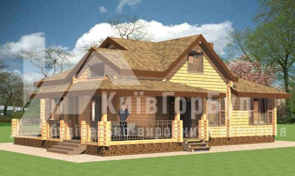 Wooden house project A-196 - image 1