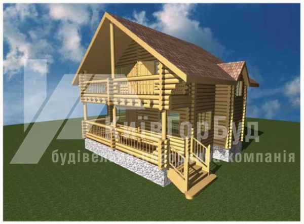 Wooden house project V-123 - image 1