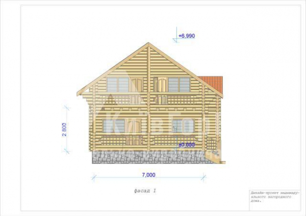 Wooden house project V-123 - image 3