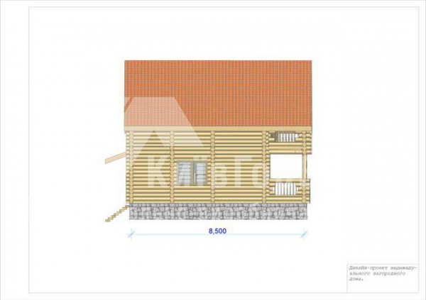 Wooden house project V-123 - image 4