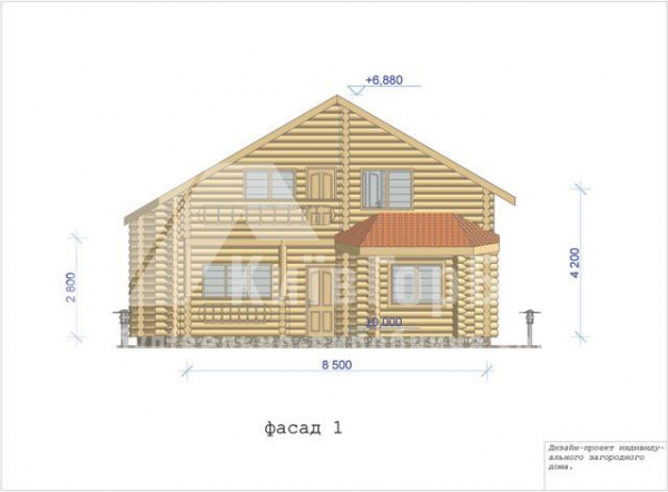 Wooden house project V-158 - image 3