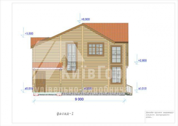 Wooden house project V-162 - image 3