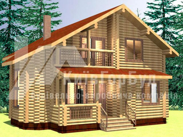 Wooden house project A-170 - image 1