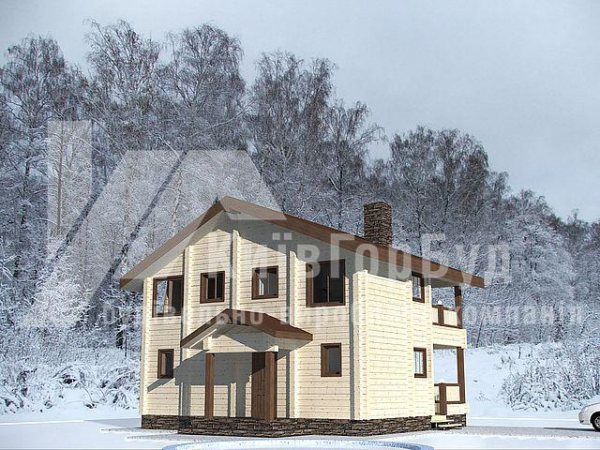 Wooden house project W-130 - image 1