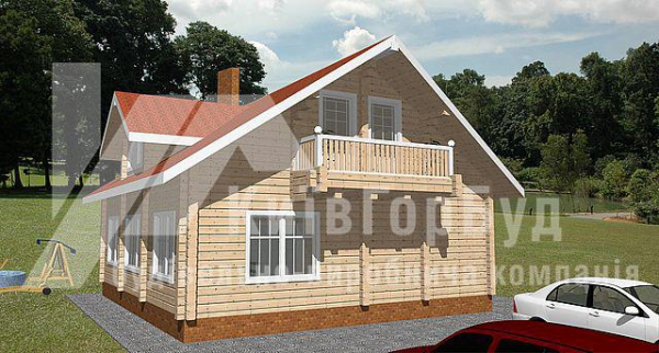 Wooden house project W-150 - image 1